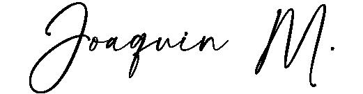 Joaquin M. Signature