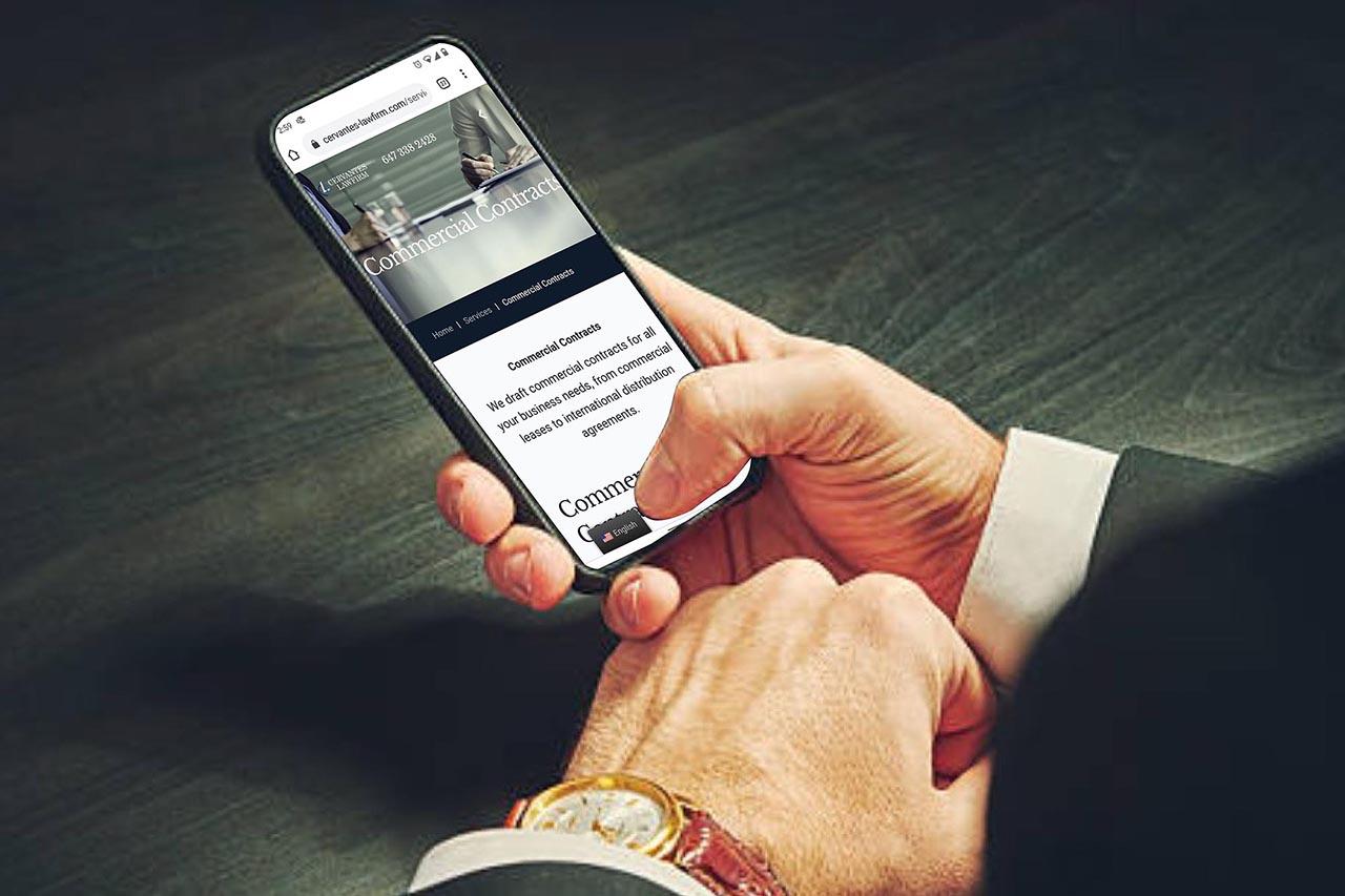 Cervantes Law-firm case mobile friendly